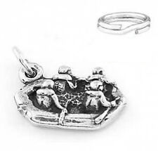 "STERLING SILVER ""RAFTERS RAFTING"" CHARM WITH SPLIT RING"