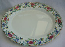 A GOOD  VINTAGE BOOTHS FLORA DORA EX LARGE OVAL SHARING SERVING PLATTER   A8042
