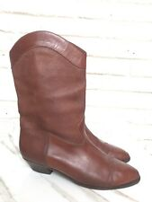 ee2400dbc Vintage Gucci Womens Tan Leather Cowboy Boots 9.5 Western Style Boho Pull  On 40