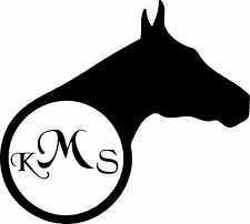 Horse with Initials decal sticker (available in several vinyl colors)