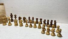 Schachfiguren Holz mit Filzunterlage in Holzbox Schachfigurensatz Holz König