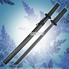 "29"" Black Wooden Samurai Katana Sword w/ Scabbard Cosplay Video Game Weapon"