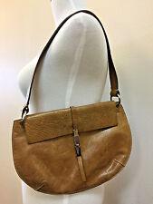 Cleo & Patek Patent Distressed Leather Paris Tan Hobo Purse Handbag