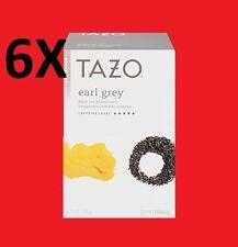 6 Boxes of Tazo Earl Grey - Herbal Tea - 20 Tea Bags - NEW