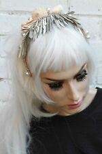 Mermaid Silver Spike Pearl Crown Sea Shell Festival Head Band Gobbolino