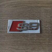 Audi S8 Heck Silber Chrom Abzeichen Logo Kofferraum Aufkleber Emblem