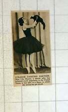 1920 Miss Ula Sharon Popular Us Dancer Performing With Her Skunk