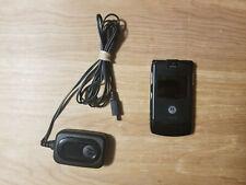 Motorola Razr V3 Black Cellular Flip Camera Phone Working