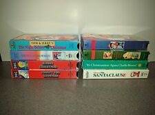 LOT OF 8 KIDS FAMILY XMAS VHS TAPES MOVIES Frosty-Charlie Brown-Santa-Pinocchio