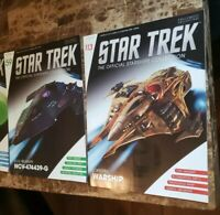 Eaglemoss Star Trek Magazines lot of 2 New LOKIRIM WARSHIP and USS RELATIVITY
