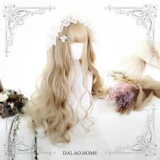 Princess Lolita Harajuku Cospaly Girl Gold Gradient Wig Cute Woman's Long Curly