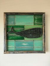 "The Captain Surfs 2016 ""Vintage whale"" Original Art Deco wall art Hawaii Made"