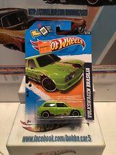 2012 Hot Wheels VW VOLKSWGEN BRASILIA #155 Scan ∞New GREEN w/flames∞