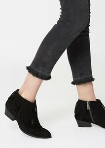 Authentic Annie Bing Sienna Fringe Black Suede Bootie Size 37 RRP $950 SOLD OUT