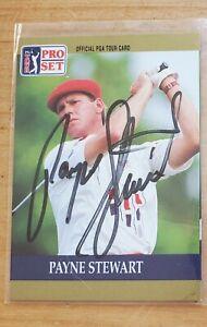 Payne Stewart Autographed Sports Card