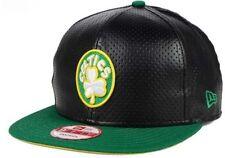 Boston Celtics NBA New Era 9FIFTY Faux Leather Men's Adjustable Snapback Cap Hat