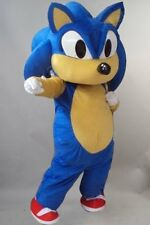 Cartoon Character Sonic the Hedgehog Video Game Mascot Costume Fancy Dress