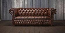 Antik Chesterfield Leder Sofa Couch Polster 100% Echtes Leder 3 Sitzer jvmoebel