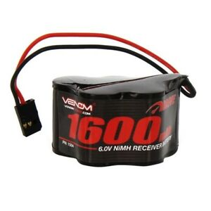 Venom 1504 DRIVE 6V 1600mAh 5-Cell NiMH Hump Receiver Battery for Nitro Vehicles