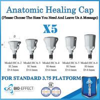 5X Dental Titanium Regular Anatomic Healing Caps for internal Hex System Implant