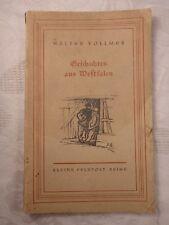 Geschichten aus Westfalen, Walter Vollmer, 1943 Feldpostausgabe, 60 Seiten