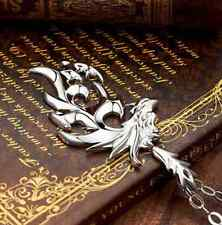 Silver Dragon Pendant Men Necklace With Leather Chain Stainless Steel Gift