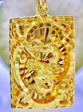 PURE 24K .9999 GOLD HAND MADE HAND POLISHED DRAGON ASIAN LUCKY PENDANT  CHARM