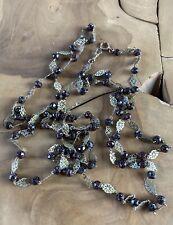 Grand sautoir ancien - Perles de verre