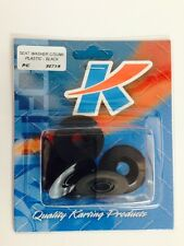 Go Kart - Seat Washer C/Sunk Black Plastic  8mm Pkt 6 - NEW