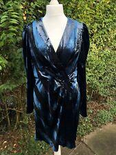 Karen Millen The Atelier Metallic Stripe Pleat Velvet Dress 16 UK, BNWT RRP £250