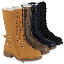 Damen Schnürstiefel Warm Gefütterte Stiefel Winter Schuhe Profil 819682