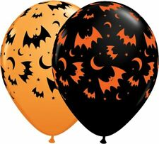 "25 x 11"" Round Halloween Flying bats and moon balloons"
