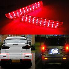 2x LED Bumper Lens Reflector Tail Rear Brake Lights For Mitsubishi Lancer Evo X
