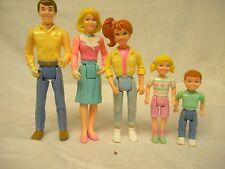 Vintage LOT Playskool Figure Dollhouse Loving FAMILY Mom Dad Sister Brother 5 pc