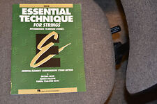 Essential Technique for Strings Intermediate for Violin Instruction Book