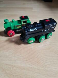 Brio Eisenbahn 2x Lok Frachtlok Lokomotive Kinder Batterie Lok Zug Holzspielzeug