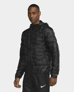 Nike Black Aeroloft Running Jacket Repel Reflective Lightweight CU7792-010 $250