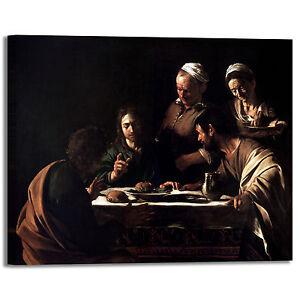 Caravaggio cena in Emmaus 2 design quadro stampa tela dipinto telaio arredo casa