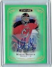 Martin Brodeur 2019-20 Upper Deck Stature Green Auto/Autograph Card /25