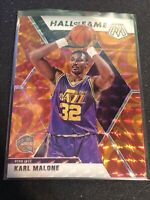 KARL MALONE 2019 2020 Mosaic ORANGE REACTIVE PARALLEL SP Hall Of Fame Jazz