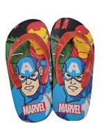 Avengers Iron Man Thor Hulk Captain America Kids Flip Flops Marvel Comics SZ 7-8