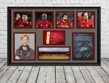 Liverpool FC Signed Photo Print Poster Football Memorabilia
