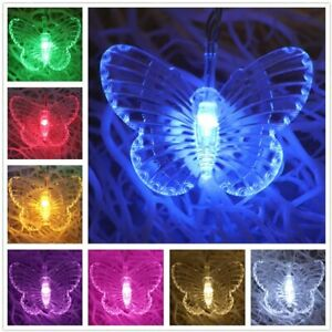 Butterfly LED String Lights Wedding Children Room Curtain Lamp Colorful Decor