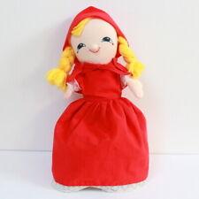 Poupée Marionnette réversible Chaperon Rouge vintage 1980