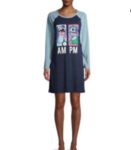 Disney Lilo & Stitch Women's Sleepshirt Sleep Shirt Pajama Nightgown Size Medium
