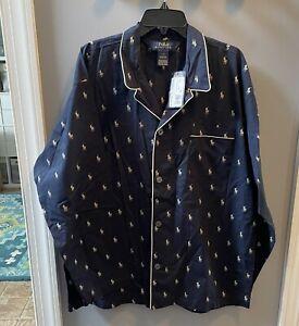 Nwt POLO Ralph Lauren Pajama Top Navy / Beige Size L Men