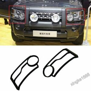 2X Land Rover LR4 Discovery 4 Front Head Light Lamp Guards Cover For 2010-2013 S