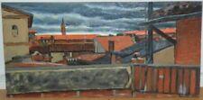 Peintures du XXe siècle et contemporaines gouaches sur panneau paysage