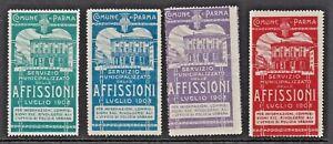 SERVIZIO MUNICIPALIZZATO DELLE AFFISSONI - 1908 -(85)-- CINDERELLAS