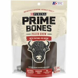 Purina Prime Bones Filled Chew With Pasture-Fed Bison Dog Chew 11.3 oz